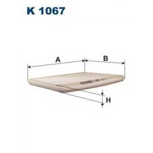 FILTRON K 1067 Фильтр салона Megane Scenic1 -AC 286x208x19