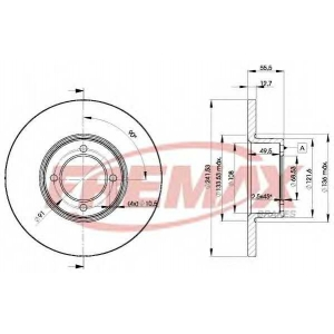 FREMAX BD-0751 Тормозной диск Опель Кадет
