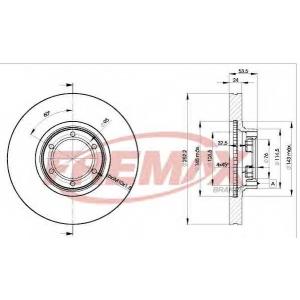 FREMAX BD-1367 Тормозные диски передние Trafic1 252x24x6