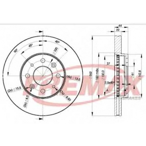 FREMAX BD-2232 Тормозные диски передние Laguna/Safrane/Scenic 262x22x4