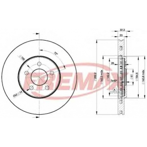 FREMAX BD-4073 Тормозной диск Крайслер Сайрус