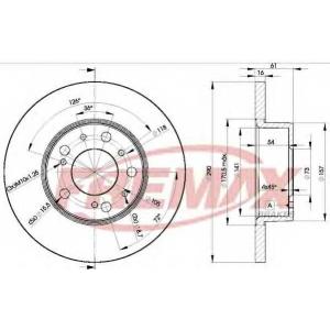 FREMAX BD-4695 Тормозные диски передние J5/C25 1.8T 290x16x5