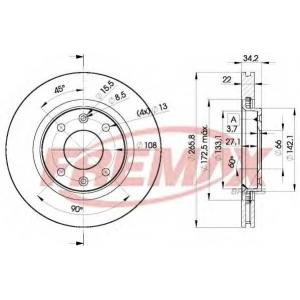 FREMAX BD-4750 Тормозной диск Фиат Елба