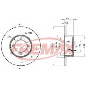 FREMAX BD-7739 Тормозной диск Опель Кадет