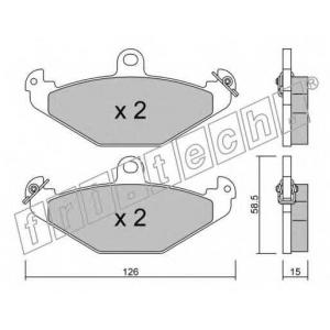 fri.tech. 168.0 Комплект тормозных колодок, дисковый тормоз Крайслер Випер