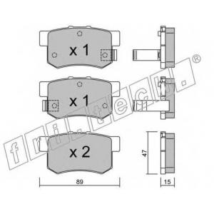 fri.tech. 176.0 Комплект тормозных колодок, дисковый тормоз Акура Легенд