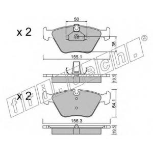 FRI.TECH 2160 Колодки тормозные дисковые, комплект