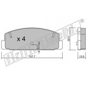FRI.TECH 3111 Колодки тормозные дисковые, комплект