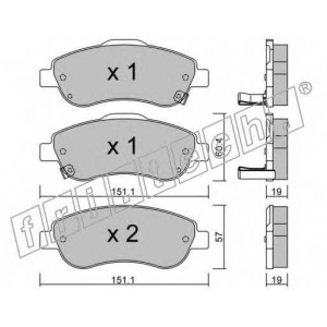FRI.TECH 8050 Колодки тормозные дисковые передние комплект