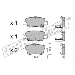 FRI.TECH 8120 Колодки тормозные дисковые, комплект