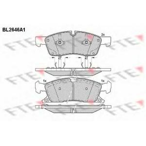 FTE BL2646A1 Комплект тормозных колодок, дисковый тормоз Додж Дюранго
