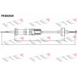 FTE FKS02020 Трос сцепления  VAG 1H1 721 335 A