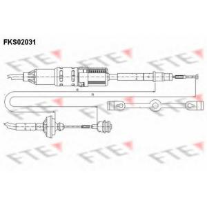 FTE FKS02031 Трос сцепления  VAG 7D1 721 335
