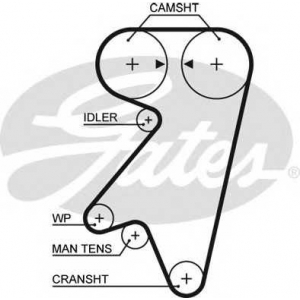 GATES 5191 Timing belt