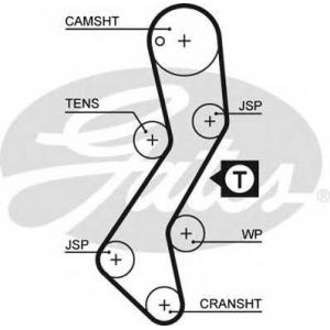 Ремень ГРМ 5251xs gates - FORD ESCORT IV (GAF, AWF, ABFT) Наклонная задняя часть 1.8 D