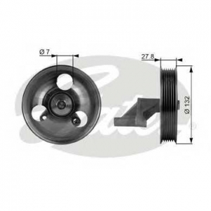 GATES T36109 Паразитный / ведущий ролик, поликлиновой ремень
