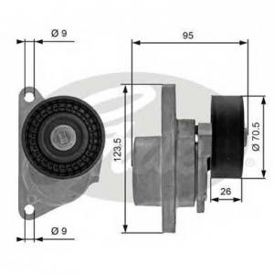 Натяжной ролик, поликлиновой  ремень t38190 gates - VOLVO S40 I (VS) седан 1.8