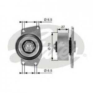 GATES T38232 Натяжной ролик, поликлиновой  ремень