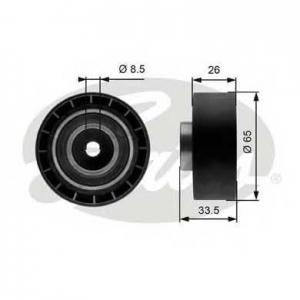 GATES T39057 Натяжной ролик, поликлиновой  ремень