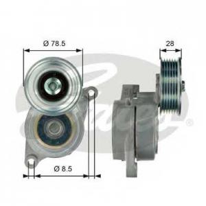 Натяжной ролик, поликлиновой  ремень t39103 gates - MAZDA 3 (BK) Наклонная задняя часть 1.6