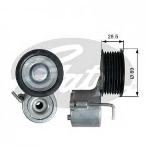 t39332 gates Натяжной ролик, поликлиновой  ремень AUDI A6 седан 3.0 TFSI quattro