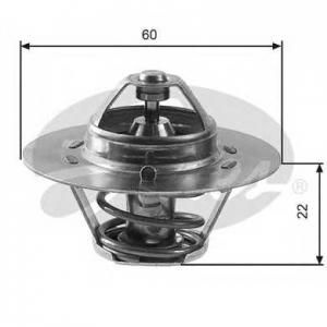 Термостат, охлаждающая жидкость th12480g1 gates - SKODA RAPID (120G, 130G, 135G) купе 1.3 (130G)