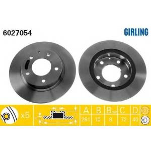 GIRLING 6027054 Диск тормозной