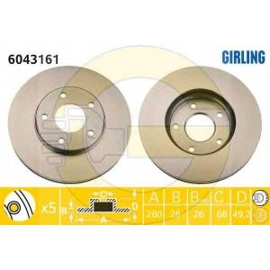 GIRLING 6043161 Тормозной диск Инфинити Ай 30