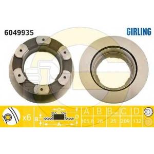 GIRLING 6049935 Диск тормозной