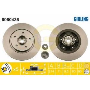GIRLING 6060436 Диск тормозной