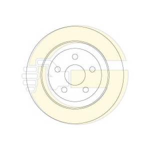 GIRLING 6062824 Тормозной диск Крайслер Сайрус