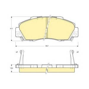 GIRLING 6109959 Комплект тормозных колодок, дисковый тормоз Акура Нсх