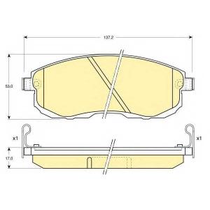 GIRLING 6110039 Комплект тормозных колодок, дисковый тормоз Инфинити Ай 30