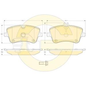 GIRLING 6114131 Комплект тормозных колодок, дисковый тормоз Мерседес Слр