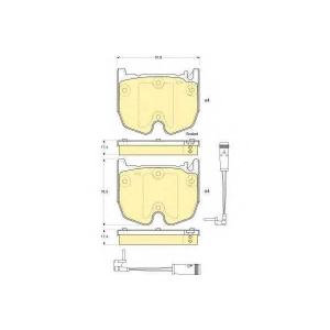 GIRLING 6115999 Комплект тормозных колодок, дисковый тормоз Мерседес Слр