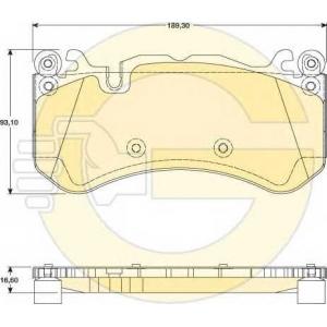 GIRLING 6117349 Комплект тормозных колодок, дисковый тормоз Мерседес Слс Амг