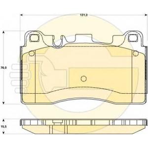 GIRLING 6119069 Комплект тормозных колодок, дисковый тормоз Мерседес Слс Амг