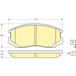 GIRLING 6132149 Комплект тормозных колодок, дисковый тормоз Дайхатсу Астраи