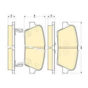 GIRLING 6134999 Комплект тормозных колодок, дисковый тормоз Хюндай