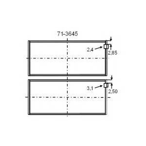 GLYCO 713645 GLYCO 71-3645 STD вкладыши шатунные шатуна SPUTTER