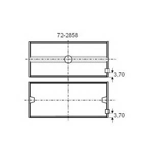 GLYCO 72-2858 Mainbearings