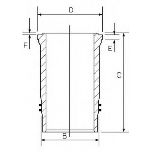 Гильза цилиндра SCANIA 127.0 DS11/DSC11 (пр-во Goe 1445819000 goetze -