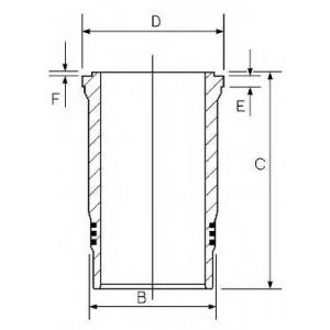 Гильза цилиндра IVECO 135.00 F3BE CURSOR 13 (пр-во 1526005000 goetze -