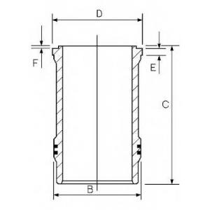 Гильза цилиндра R.V.I. 102.0 MIDR 06.02.12/ MIDR 0 1548009000 goetze -