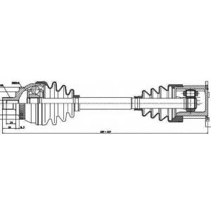Приводной вал 203023 gsp - VW SHARAN (7M8, 7M9, 7M6) вэн 1.9 TDI