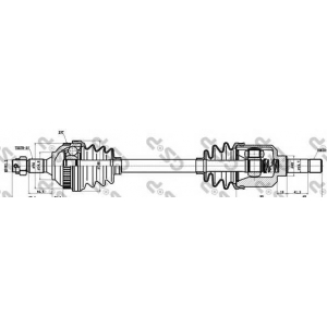 Приводной вал 210025 gsp - CITRO?N ZX (N2) Наклонная задняя часть 1.9 D