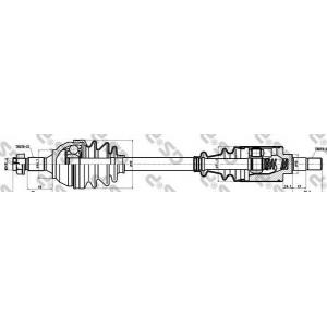 Приводной вал 210026 gsp - CITRO?N BERLINGO фургон (M_) фургон 1.1 i (MAHDZ, MBHDZ, MBHFX)