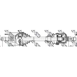 Приводной вал 210033 gsp - PEUGEOT BOXER автобус (230P) автобус 2.0 i
