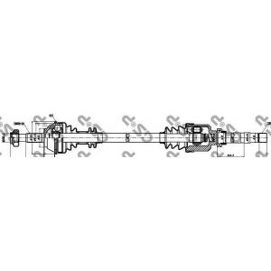 Приводной вал 210036 gsp - PEUGEOT BOXER автобус (230P) автобус 2.0 i