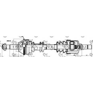 Приводной вал 210037 gsp - PEUGEOT BOXER автобус (230P) автобус 2.0 i